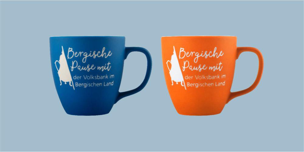 Kaffeetasse: Bergische Kaffeetafel (blau/orange)
