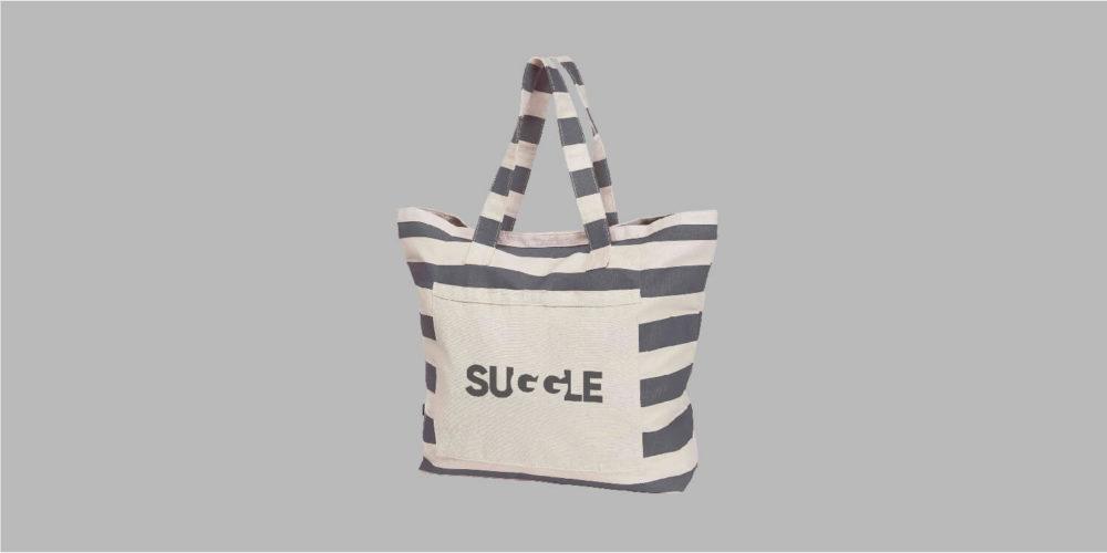 Strandtasche (Baumwolle) mit Branding