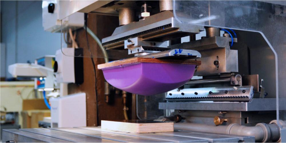 Printing process: pad printing machine