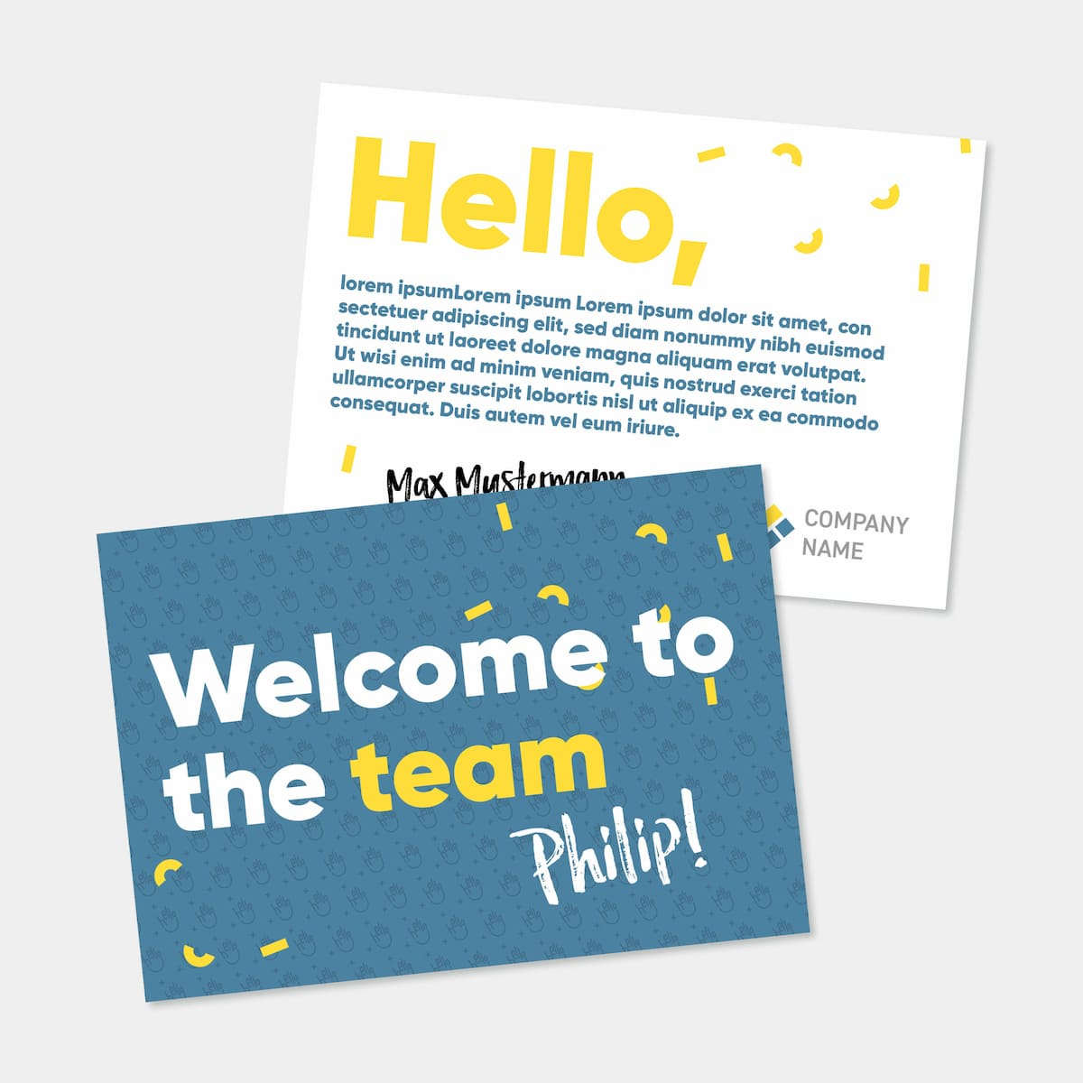 Welcome Card - Onboarding-box-gift first-day employees