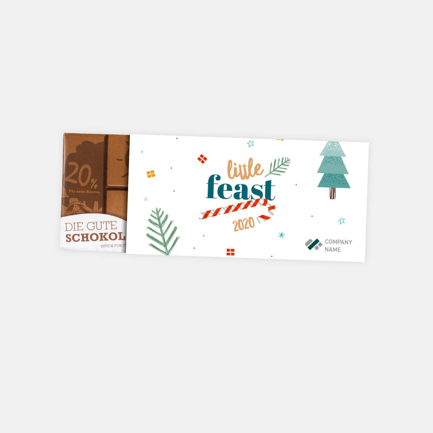 little feast - chocolate with company branding
